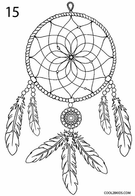 Simple Dream Catcher Drawing : simple, dream, catcher, drawing, Dreamcatcher, (Step, Step)