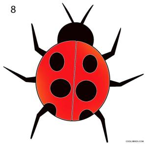 ladybug draw drawing step ladybugs lessons cool2bkids realistic