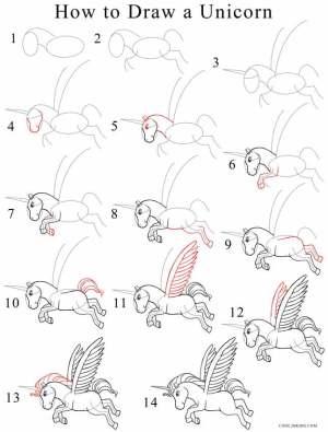 drawing unicorn step draw easy unicorns drawings cool2bkids cartoon sketches steps sketch babysitting beginners eirene arte tutorial animal painting pegasus