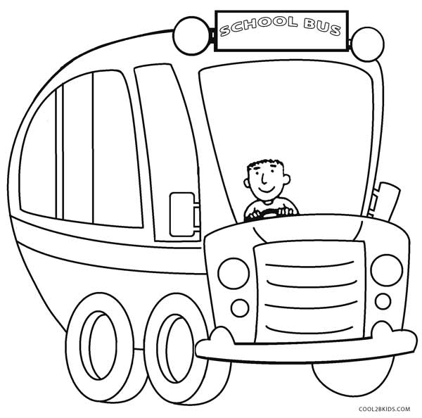 Bus Coloring Page 01 Coloring Page