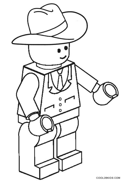 Cowboy Hat Color Page : cowboy, color, Printable, Cowboy, Coloring, Pages