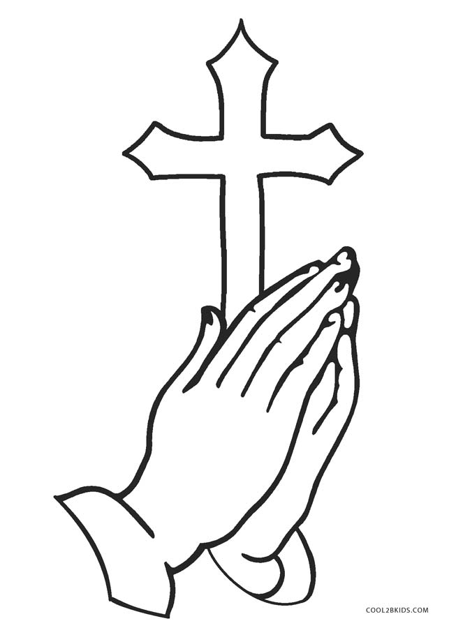Cross Coloring Page : cross, coloring, Printable, Cross, Coloring, Pages