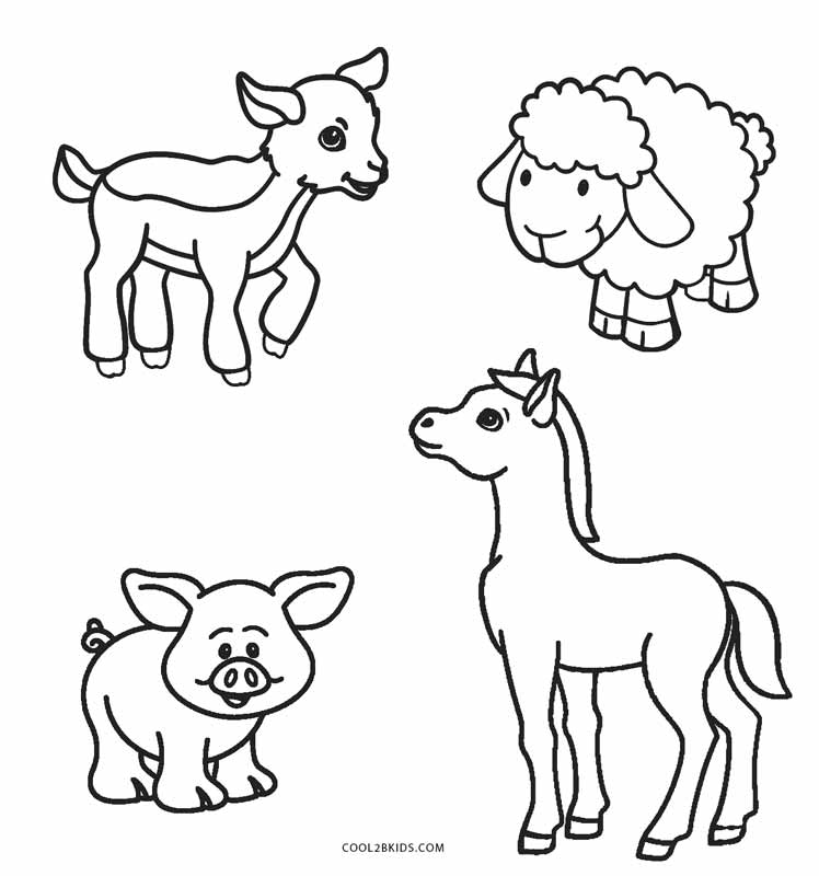 Free Printable Coloring Pages Of Farm Animals - Novocom.top