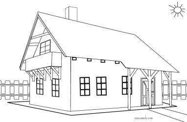 coloring pages houses printable