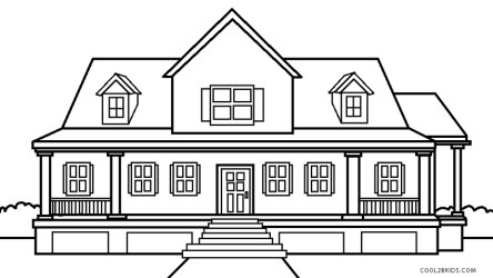House Coloring Pages 1