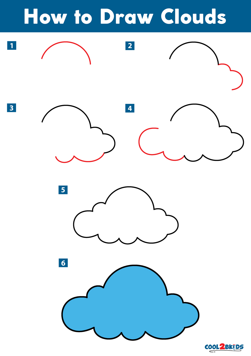 Cloud Drawing Easy : cloud, drawing, Clouds, Cool2bKids