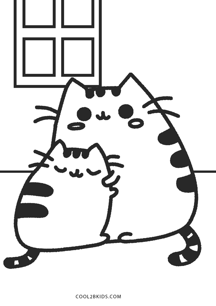 Pusheen Coloring Pages - Coloring sheets with Pusheen