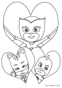 Pj Masks Coloring Pages Black And White : masks, coloring, pages, black, white, Printable, Masks, Coloring, Pages