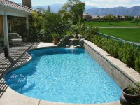Astounding Backyard Landscaping Ideas with Large Blue ...