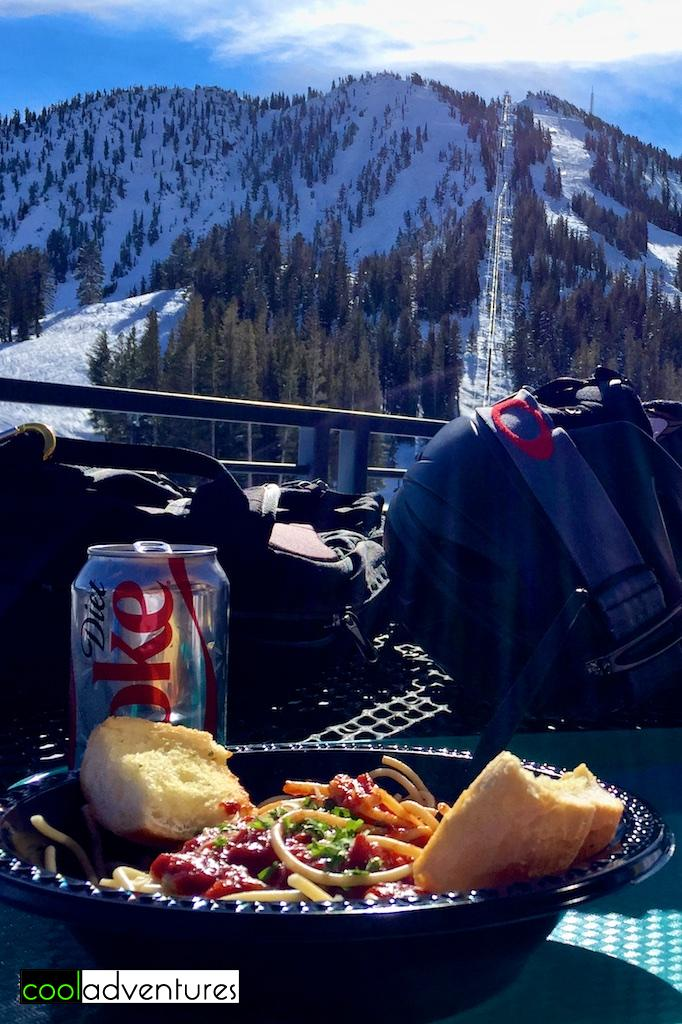 Lunch at Mt. Rose Ski Tahoe, Lake Tahoe, Nevada