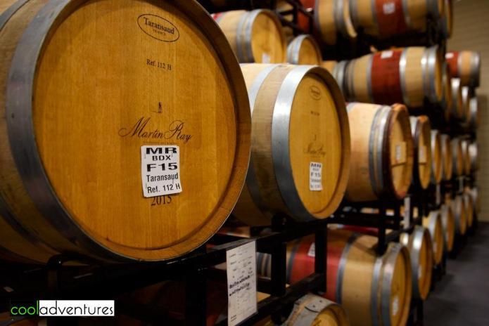 Barrel room at Martin Ray Vineyards and Winery, Santa Rosa, California