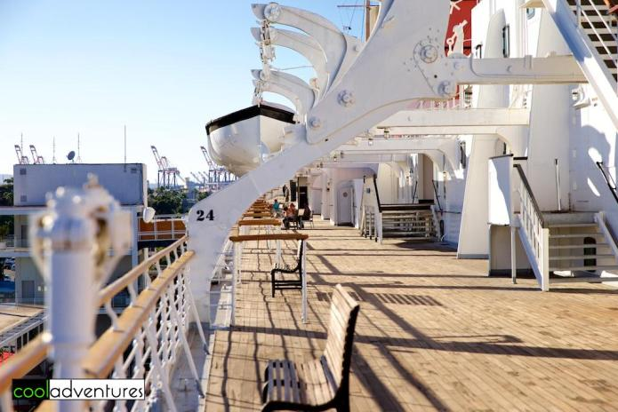 The Queen Mary Hotel's deck