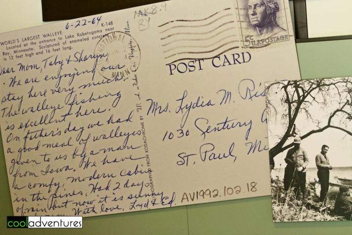 Postcard from 1964 at Trading Post & Mille Lacs Indian Museum