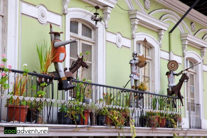 Balcony art, Old Town, Quito, Ecuador