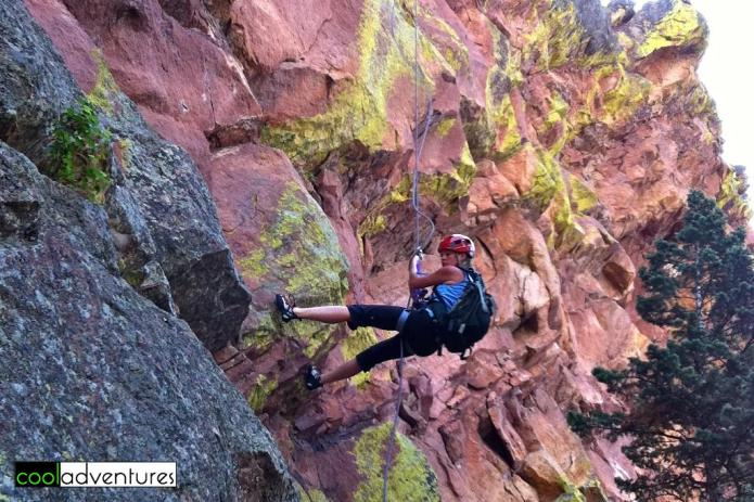 Climbing Boulder's First Flatiron, Boulder, Colorado