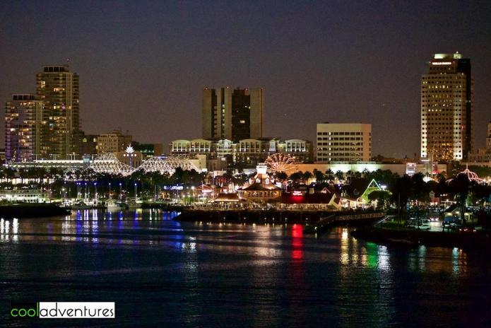Long Beach California after dark