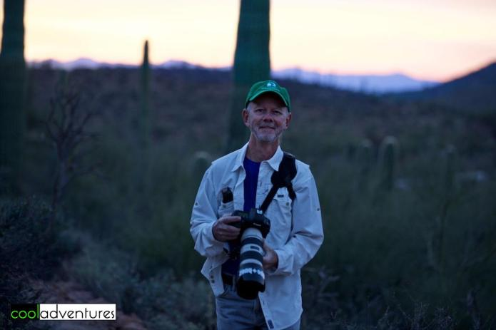 Greg Hull on Sunrise hike at JW Marriott Starr Pass, Tucson, Arizona