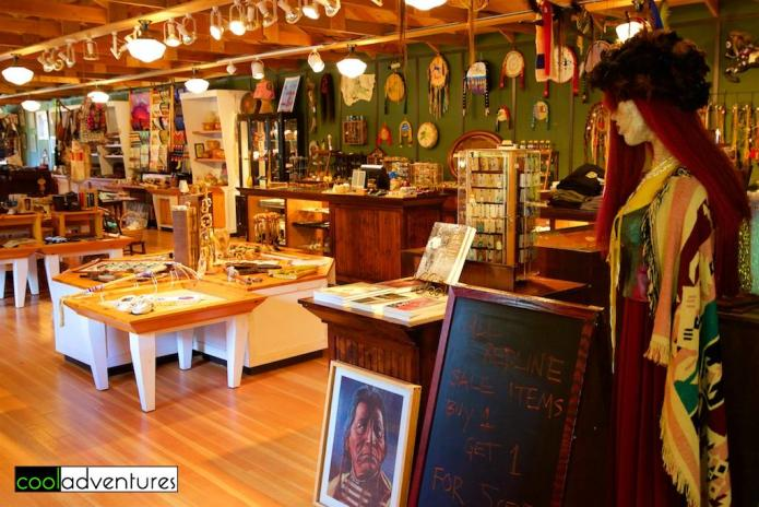 The Trading Post offers American Indian art and crafts