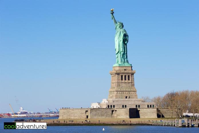The Statue of Liberty ion Liberty Island in New York Harbor in New York City