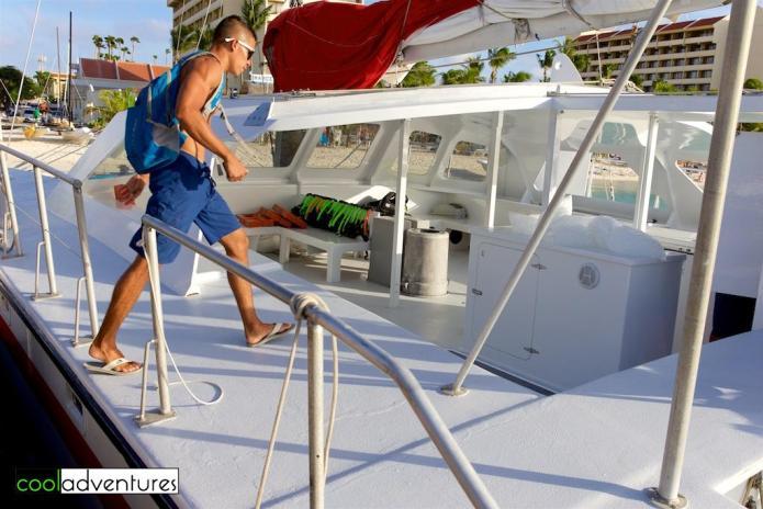 Firstmate Gerald Nicolaas, Red Sail Sports, Aruba