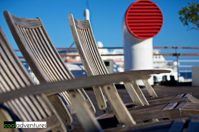 Deck chairs, The Queen Mary Hotel, Long Beach California