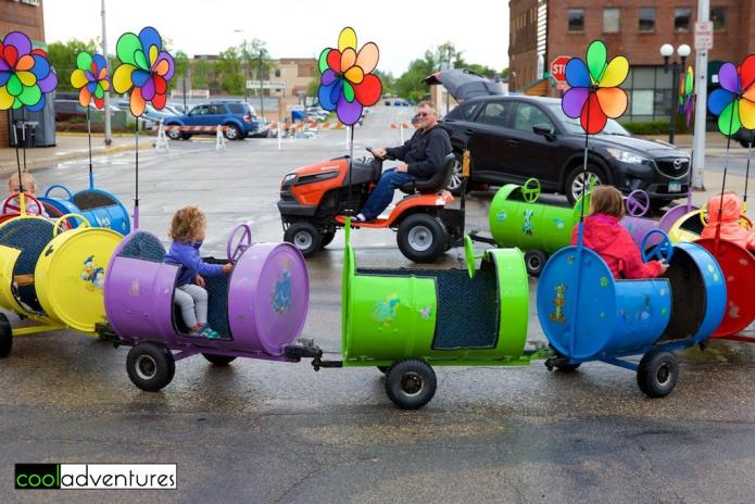 Children's activities at Street Faire at the Lakes in Detroit Lakes