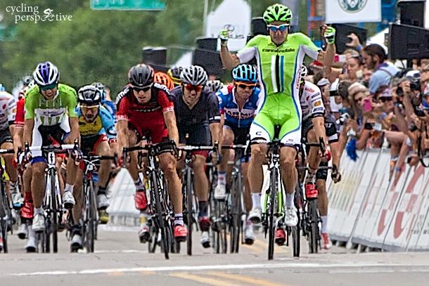 Elia Viviani wins USA Pro Challenge 2014 stage 4
