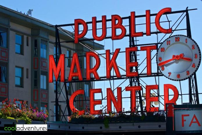 Pike Place Market sign, Seattle, Washington