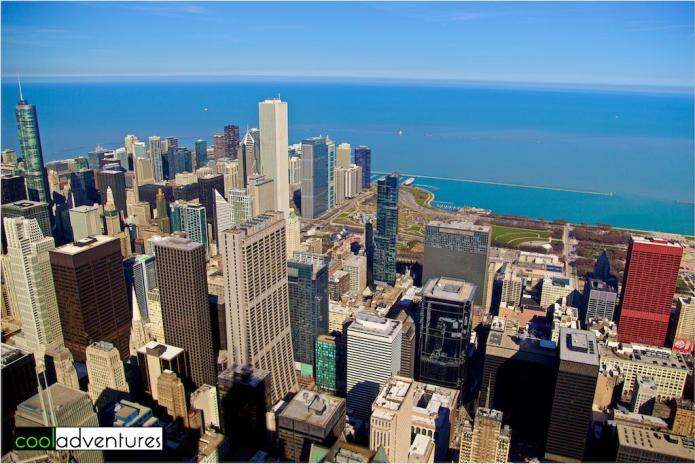 View of Chicago from the Skydeck at Willis Tower
