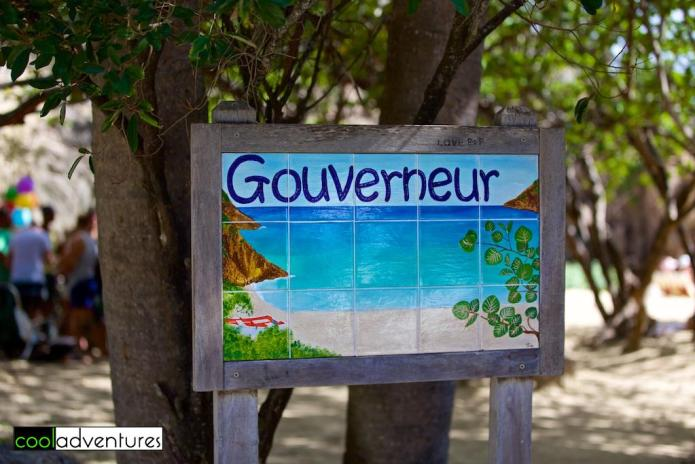 Sign at entrance to Gouverneur Beach, St. Barths
