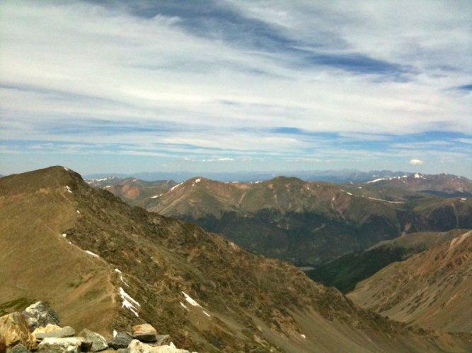Climbing Gray's Peak