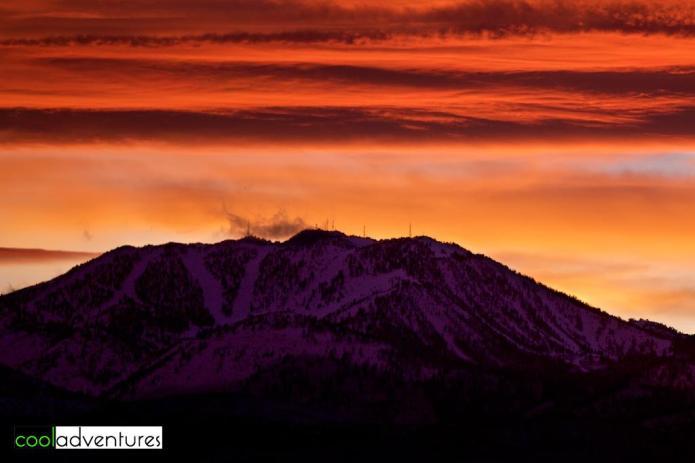Mt Rose Ski Tahoe at sunset