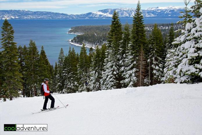 Kim Hull at Homewood Ski Resort, Lake Tahoe, California