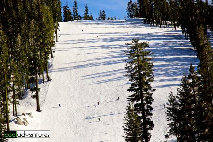 Lower Main ski run, Sierra at Tahoe Resort