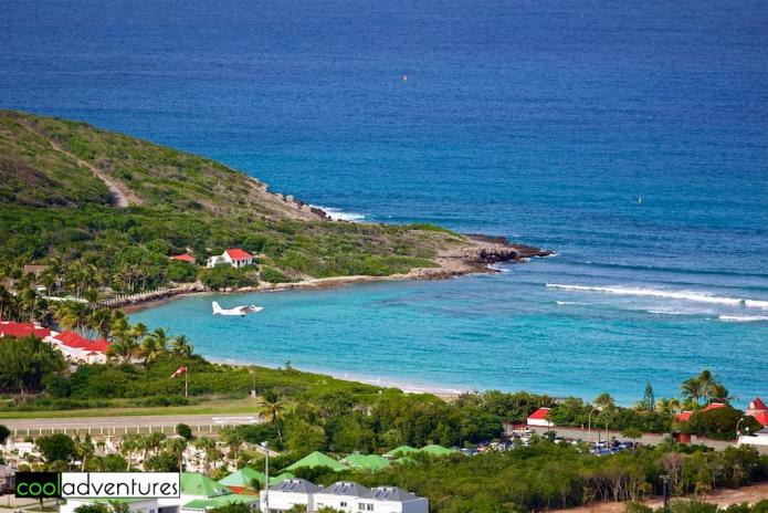 Plane taking off at St. Jean, St. Barths