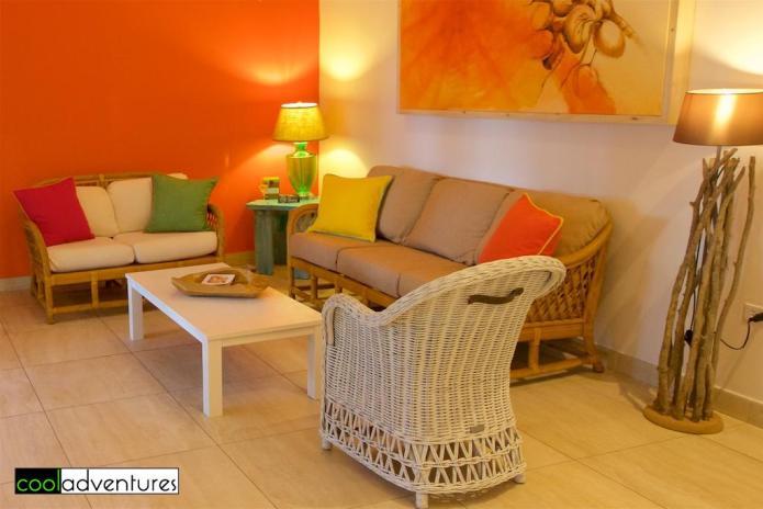 Living area in one bedroom casita, Boardwalk Aruba