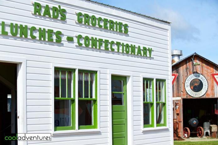 Rad's Groceries building exterior, Pioneer Village, Brainerd, Minnesota