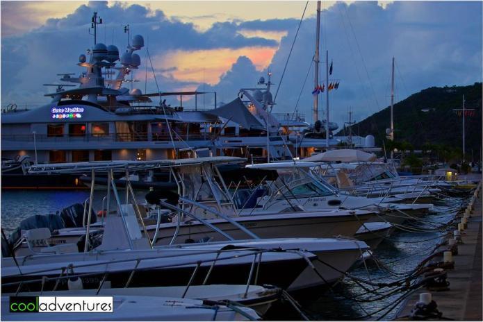 St Barths Harbor sunset