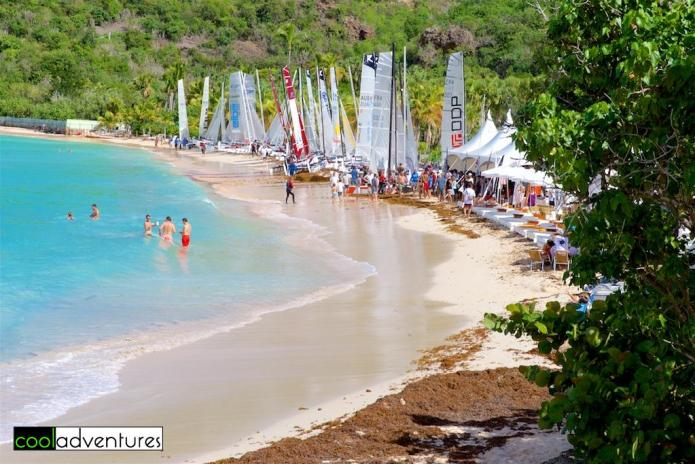 Dining, drinking, and watersports at St. Jean, Saint Barths