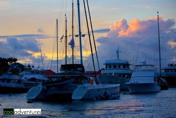 Sunset, Gustavia Harbor, St. Barths