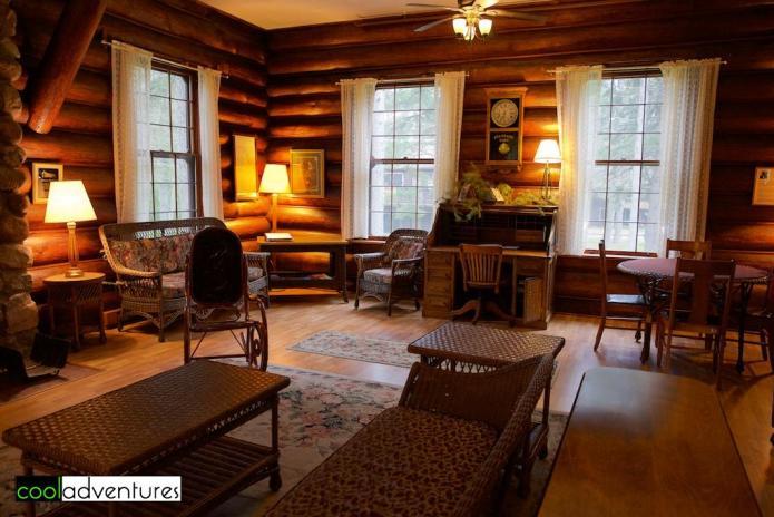 Douglas Lodge comon area, Itasca State Park, Minnesota
