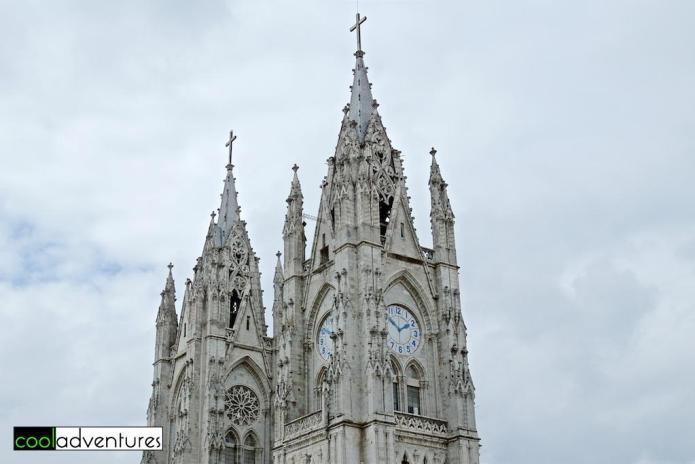 Tower of Basílica del Voto Nacional, Quito, Ecuador