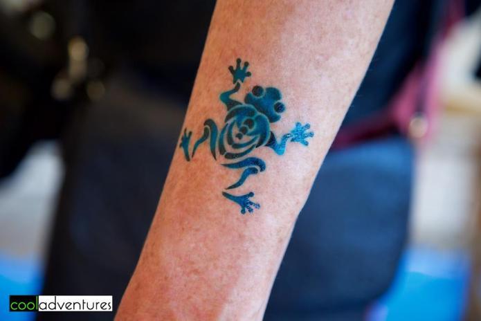 Coqui frog temporary tattoo