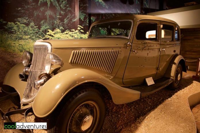 Bonnie and Clyde replica car, Buckhorn Saloon and Museum, San Antonio, Texas