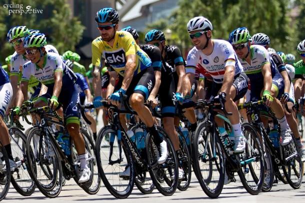 Amgen Tour of California 2014 Stage 7 start in Santa Clarita