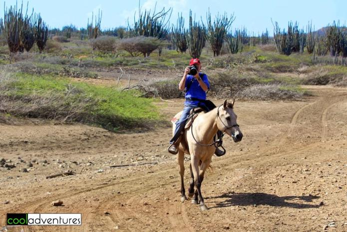 Greg on Poco Blonde Princess, Rancho Washikemba, Bonaire