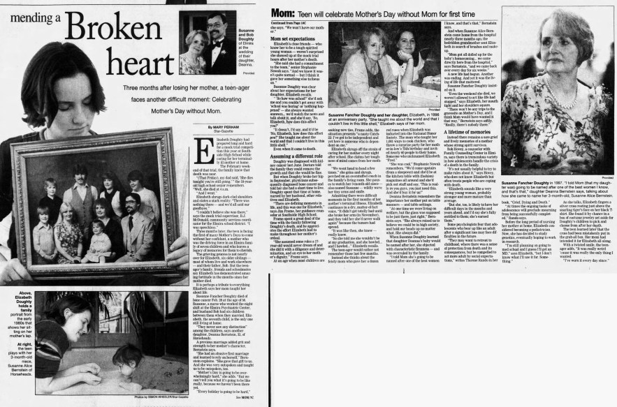 Susanne Fancher Doughty news article, 10 May 1998,