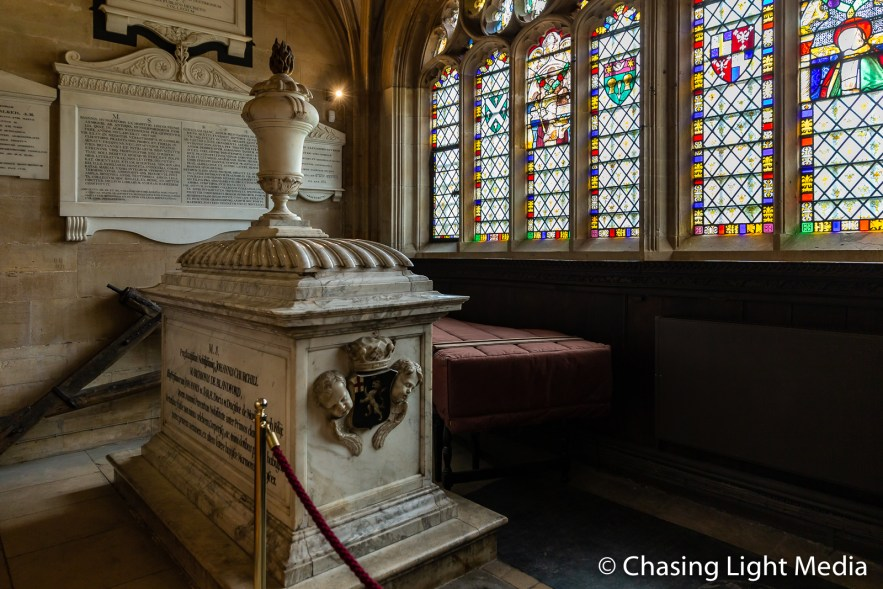 Tomb of Johannis Churchill, King's College, Cambridge, England