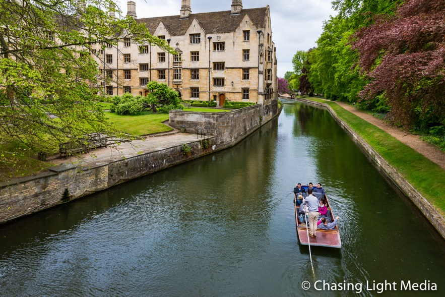 Canal boat, Cambridge, England
