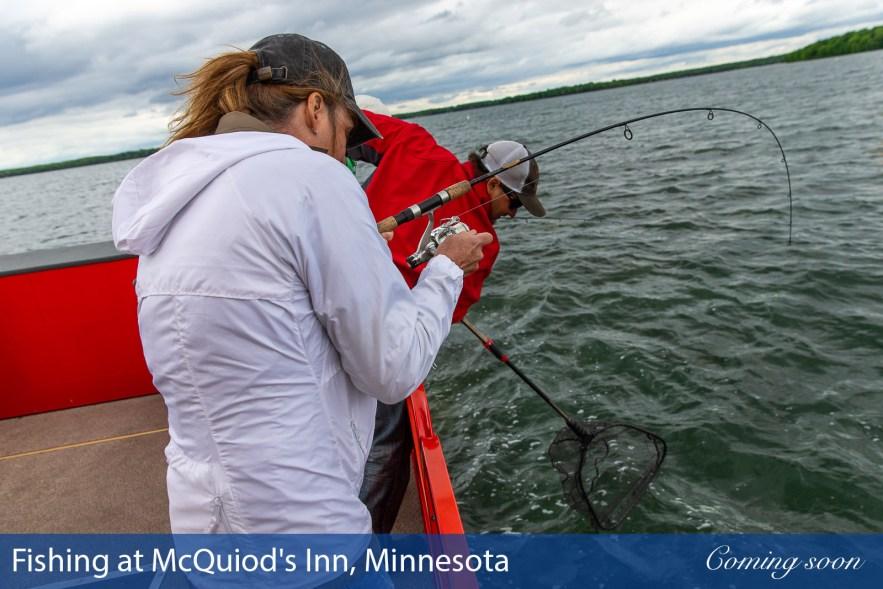Fishing at McQuiod's Inn, Minnesota photographs taken by Chasing Light Media